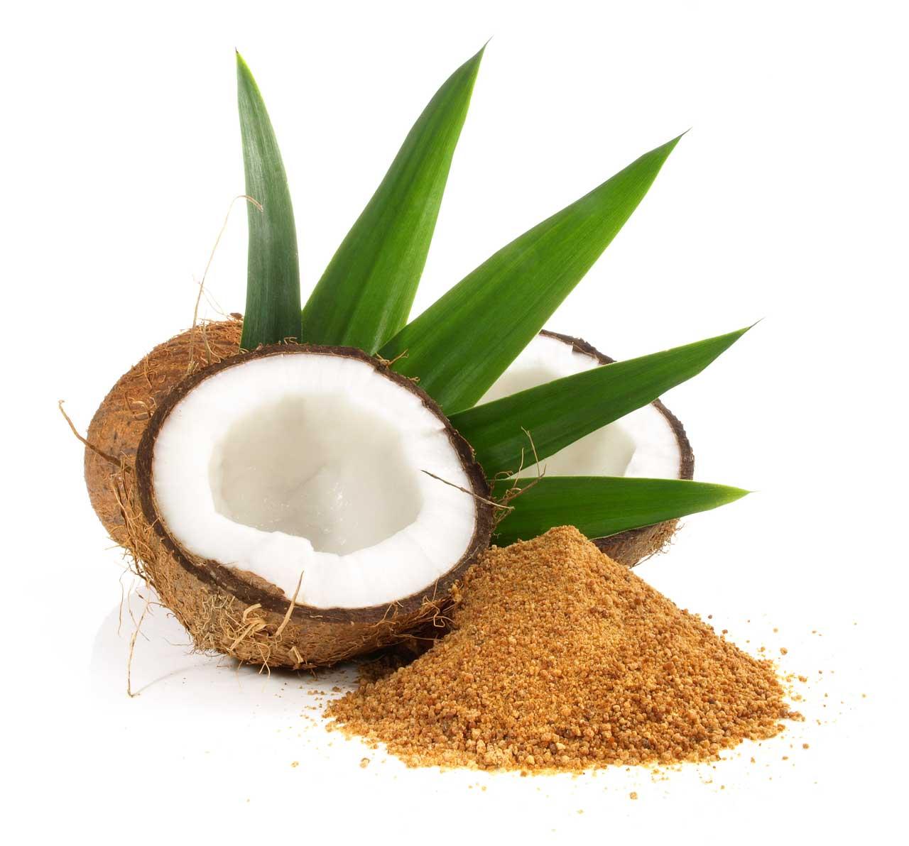 Xylit oder Birkenzucker und Kokosblütenzucker