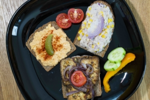 Dreierlei belegte Brote