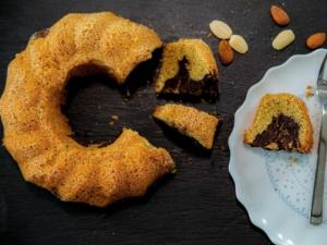 Zuckerfreier Marmorkuchen Low-Carb mit Mandelmehl