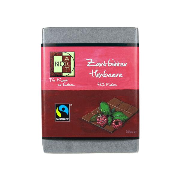 Bio Schokolade Zartbitter-Himbeere