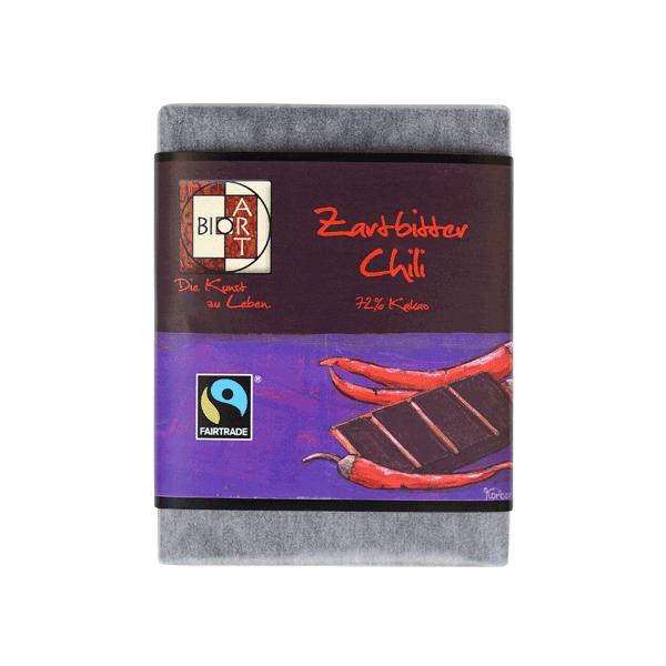 Bio Schokolade Zartbitter-Chili