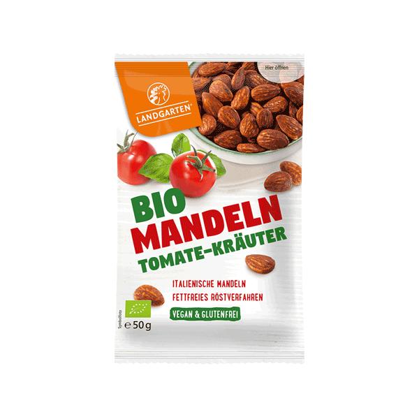 Bio Mandeln geröstet Tomate-Kräuter vegan und glutenfrei