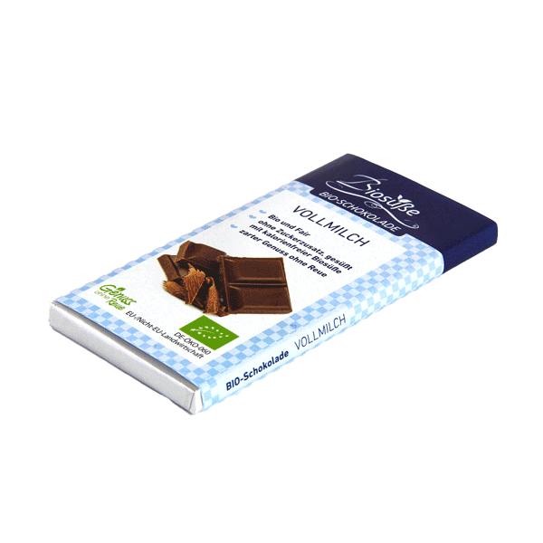 Bio zuckerfreie Vollmilchschokolade