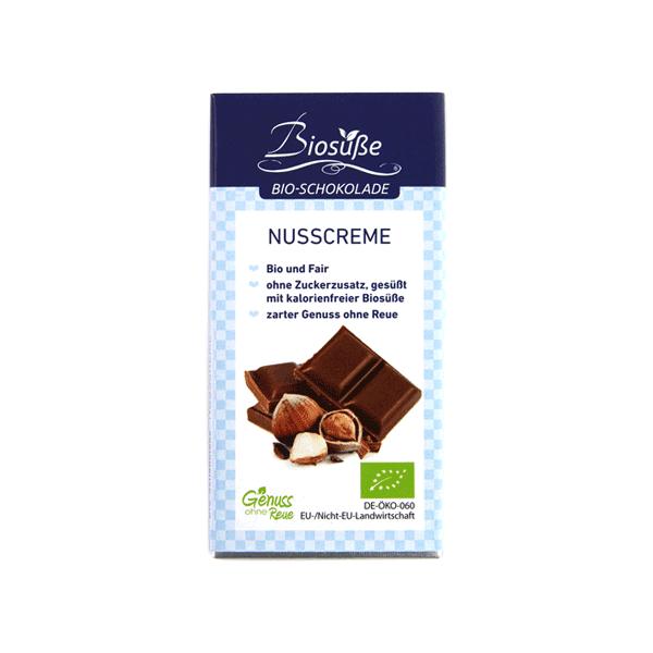 Zuckerfreie Bio Schokolade Nusscreme
