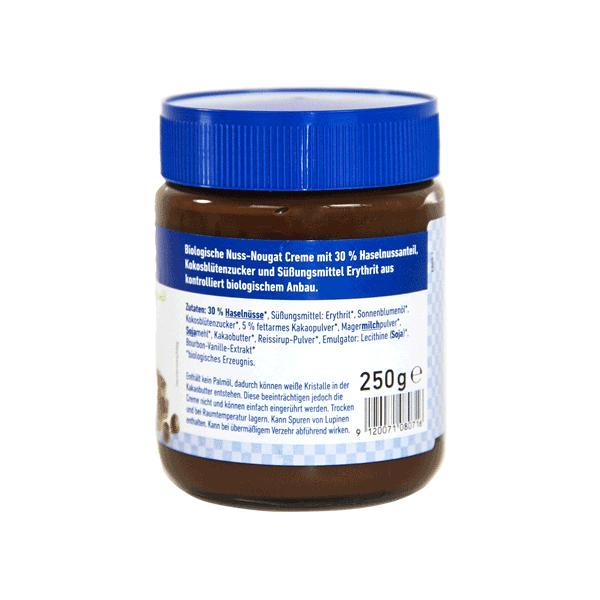 Bio zuckerfreie Haselnusscreme